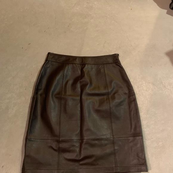 c65b954793 Boden Skirts   Leather Skirt   Poshmark